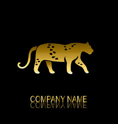 Golden leoprard symbol vector