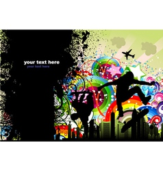 grunge urban poster vector image vector image