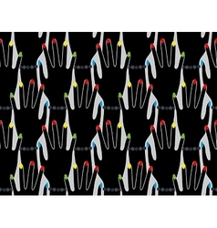 Hands silhouette seamless pattern vector image vector image