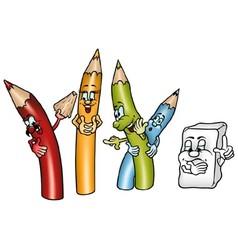 Happy crayons vector