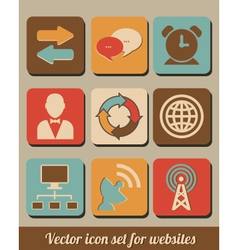 icon set for websites vector image vector image