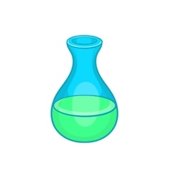 Laboratory flask icon in cartoon style vector image vector image