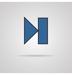 Next track web icon with shadow Media player vector image vector image