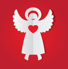 paper angel vector image