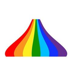 Rainbow icon cartoon 5 vector image vector image