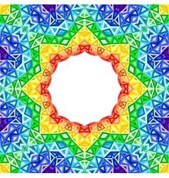 Rainbow kaleidoscope colorful background vector