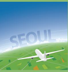 Seoul flight destination vector