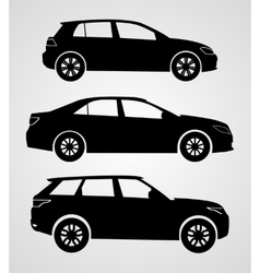 Silhouette cars on a white background vector