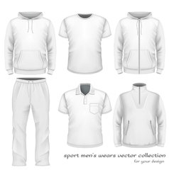 Sport men wear collection vector image
