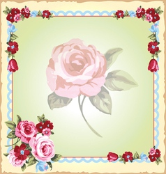 victorian floral handkerchiefs vector image