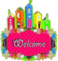 Welcome sign design vector