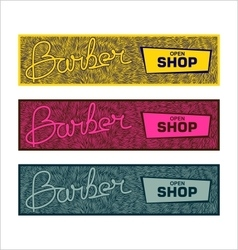 Stylized banners for barbershop vector