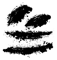 Brush stain set vector