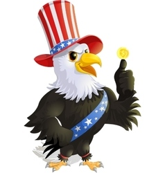 Beautiful eagle to the presidents day vector