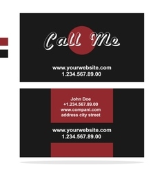 Clean dark business card vector