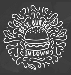 best burgers in town vector image