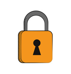 padlock security system technology vector image