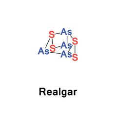 Realgar arsenic sulfide vector
