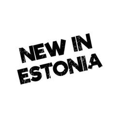 New in estonia rubber stamp vector