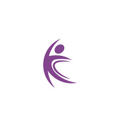 Isolated abstract purple color human body in vector