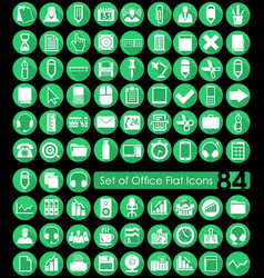 Set of office icons vector