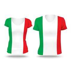 Flag shirt design of italy vector