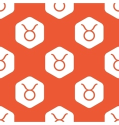 Orange hexagon taurus pattern vector