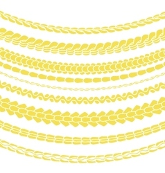 Set of variety gold chain silhouettes vector