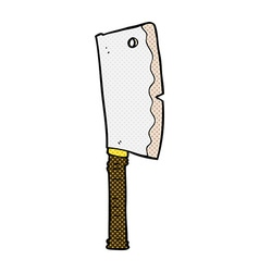 Comic cartoon meat cleaver vector