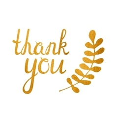 Thank you golden inscription vector