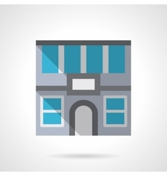 Office rent flat color design icon vector