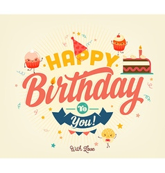 Happy Birthday Banner vector image
