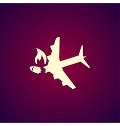 Airplane Crash icon vector image vector image