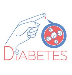 Banner diabetes blood sugar vector