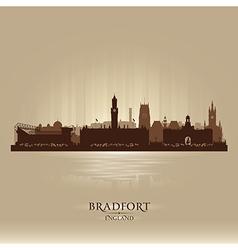 Bradfort england skyline city silhouette vector