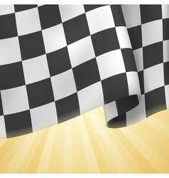 Checkered flag background card template vector
