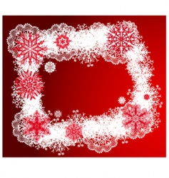 Christmas design frame vector image vector image