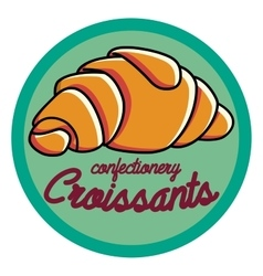 Color vintage confectionery emblem vector image