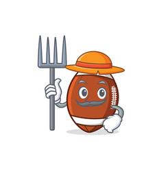 Farmer american football character cartoon vector