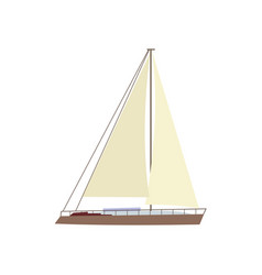 Flat style sailing ship boat sailboat icon vector