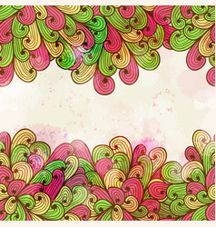 hand drawn seamless pink and green pattern vector image vector image