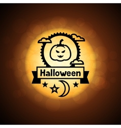 Happy halloween greeting card on background of vector image vector image