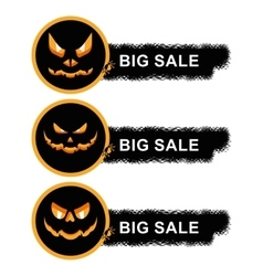 helloween sale off stickers vector image vector image