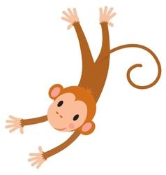 Little funny monkey vector