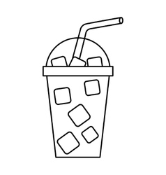 Milkshake drink isolated icon vector