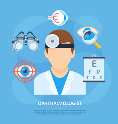 ophthalmologist doctor icon copyspace poster vector image vector image