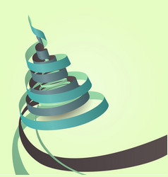 paper ribbons - christmas tree vector image