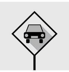 passenger car icon vector image