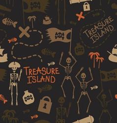 Pirate island seamless pattern vector