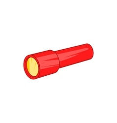 Red flashlight icon cartoon style vector image
